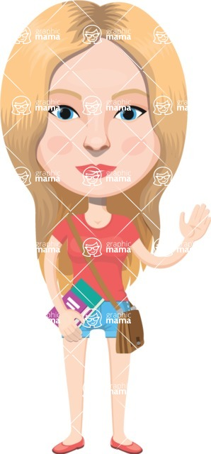 American People Vector Cartoon Graphics Maker - Woman 3