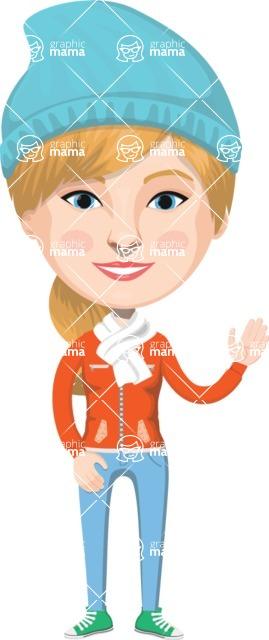 American People Vector Cartoon Graphics Maker - Woman 30