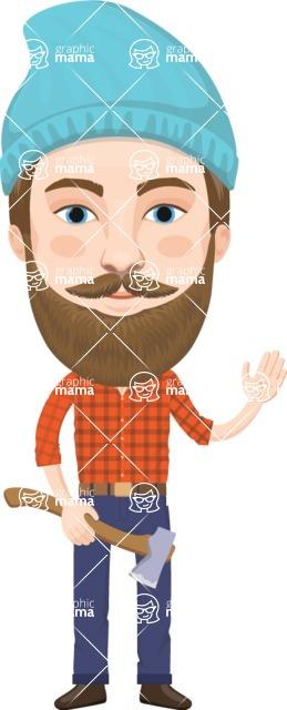 American People Vector Cartoon Graphics Maker - Man 8