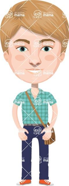 American People Vector Cartoon Graphics Maker - Man 12