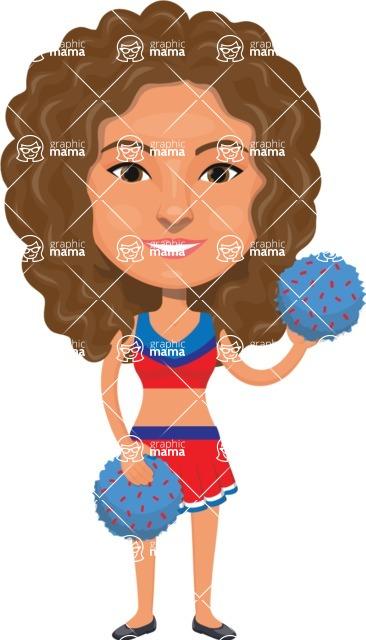 American People Vector Cartoon Graphics Maker - Woman 5