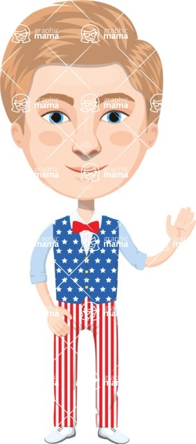 American People Vector Cartoon Graphics Maker - Man 21