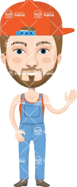 American People Vector Cartoon Graphics Maker - Man 22