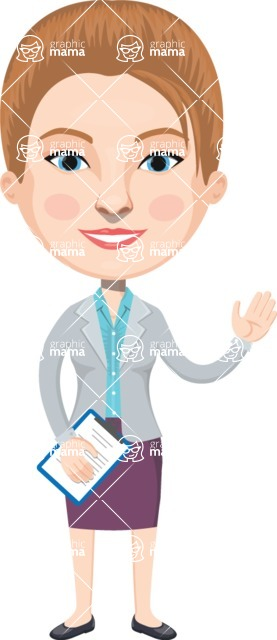 American People Vector Cartoon Graphics Maker - Woman 7