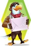 Eagle Aviator Cartoon Vector Character - Shape 11