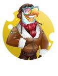 Eagle Aviator Cartoon Vector Character - Shape 2