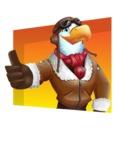 Eagle Aviator Cartoon Vector Character - Shape 3