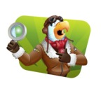 Eagle Aviator Cartoon Vector Character - Shape 4