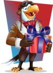 Eagle Aviator Cartoon Vector Character - Shape 5