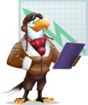 Eagle Aviator Cartoon Vector Character - Shape 6