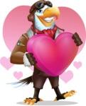 Eagle Aviator Cartoon Vector Character - Shape 7