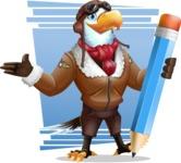 Eagle Aviator Cartoon Vector Character - Shape 8