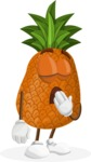 Cute Pineapple Cartoon Vector Character AKA Sweetson Exotic - Being Bored