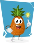 Cute Pineapple Cartoon Vector Character AKA Sweetson Exotic - Being Creative Illustration Concept