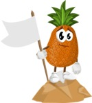 Cute Pineapple Cartoon Vector Character AKA Sweetson Exotic - Being Successful on Top