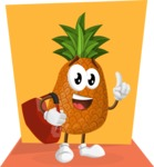 Cute Pineapple Cartoon Vector Character AKA Sweetson Exotic - Colorful Illustration Concept