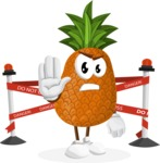 Cute Pineapple Cartoon Vector Character AKA Sweetson Exotic - Farming with Baby Carrots