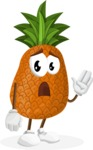 Cute Pineapple Cartoon Vector Character AKA Sweetson Exotic - Feeling Bored and Yawning