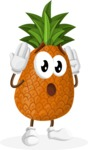 Cute Pineapple Cartoon Vector Character AKA Sweetson Exotic - Feeling Confused