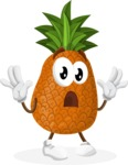 Cute Pineapple Cartoon Vector Character AKA Sweetson Exotic - Feeling Shocked