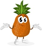 Cute Pineapple Cartoon Vector Character AKA Sweetson Exotic - Feeling Sorry