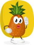 Cute Pineapple Cartoon Vector Character AKA Sweetson Exotic - Funny Illustration with Background
