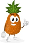 Cute Pineapple Cartoon Vector Character AKA Sweetson Exotic - Giving Thumbs Up