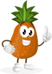 Cute Pineapple Cartoon Vector Character AKA Sweetson Exotic - Making a Point