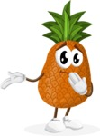 Cute Pineapple Cartoon Vector Character AKA Sweetson Exotic - Making Oops gesture