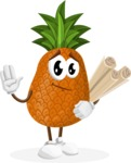 Cute Pineapple Cartoon Vector Character AKA Sweetson Exotic - Making Plans