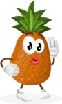 Cute Pineapple Cartoon Vector Character AKA Sweetson Exotic - Posing for a Selfie