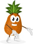 Cute Pineapple Cartoon Vector Character AKA Sweetson Exotic - Presenting