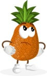 Cute Pineapple Cartoon Vector Character AKA Sweetson Exotic - Rolling Eyes