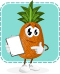 Cute Pineapple Cartoon Vector Character AKA Sweetson Exotic - School Illustration with Colorful Background