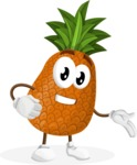 Cute Pineapple Cartoon Vector Character AKA Sweetson Exotic - Showing with a Smile