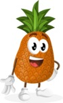 Cute Pineapple Cartoon Vector Character AKA Sweetson Exotic - Smiling