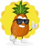 Cute Pineapple Cartoon Vector Character AKA Sweetson Exotic - Sunny Summer Illustration Concept