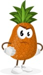 Cute Pineapple Cartoon Vector Character AKA Sweetson Exotic - Waiting