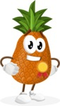 Cute Pineapple Cartoon Vector Character AKA Sweetson Exotic - Winning a Prize
