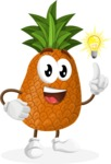 Cute Pineapple Cartoon Vector Character AKA Sweetson Exotic - with an Idea