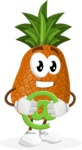 Cute Pineapple Cartoon Vector Character AKA Sweetson Exotic - With Email Sign - Web
