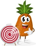 Cute Pineapple Cartoon Vector Character AKA Sweetson Exotic - With Target