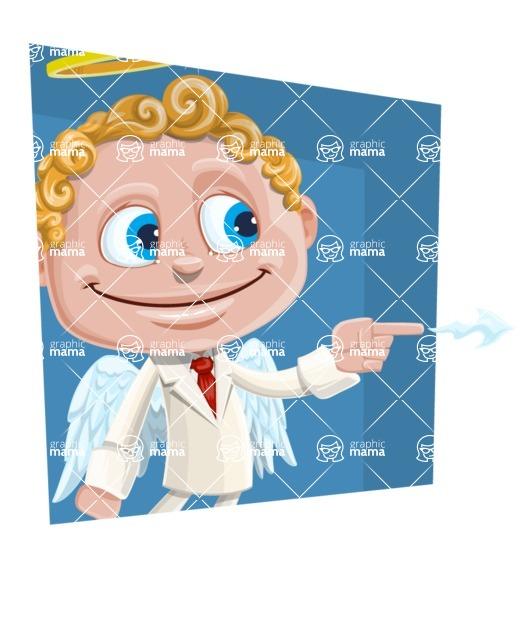Business Angel Cartoon Vector Character AKA Angello - Shape 3