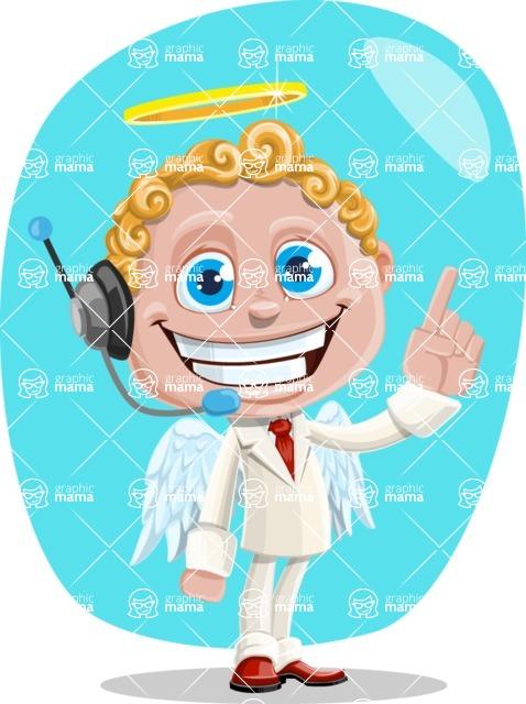 Business Angel Cartoon Vector Character AKA Angello - Shape 5