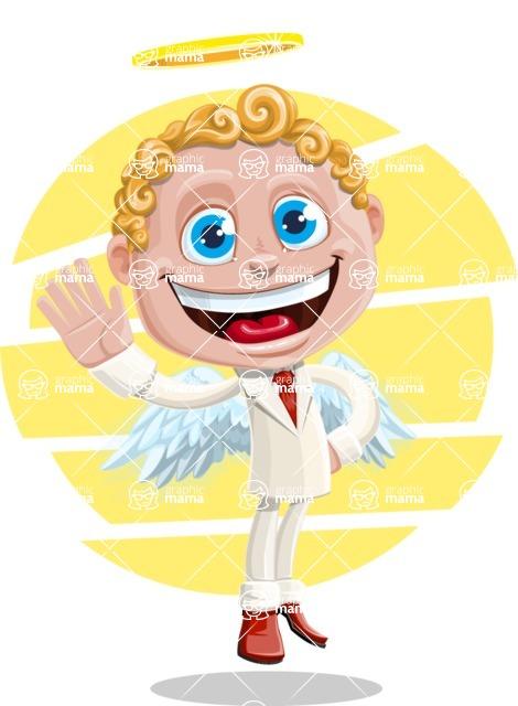 Business Angel Cartoon Vector Character AKA Angello - Shape 8