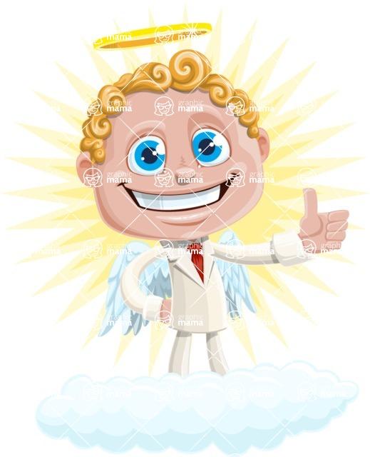 Business Angel Cartoon Vector Character AKA Angello - Shape 9