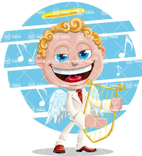 Business Angel Cartoon Vector Character AKA Angello - Shape 10