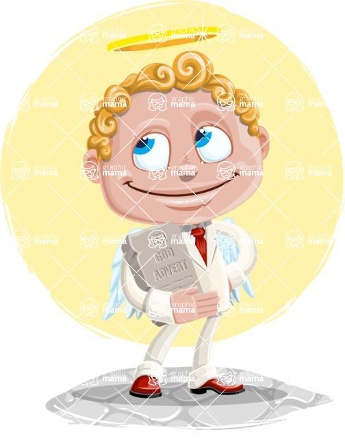 Business Angel Cartoon Vector Character AKA Angello - Shape 11