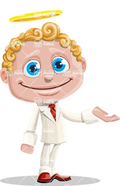 Business Angel Cartoon Vector Character AKA Angello - Sorry