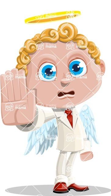 Business Angel Cartoon Vector Character AKA Angello - Stop 2